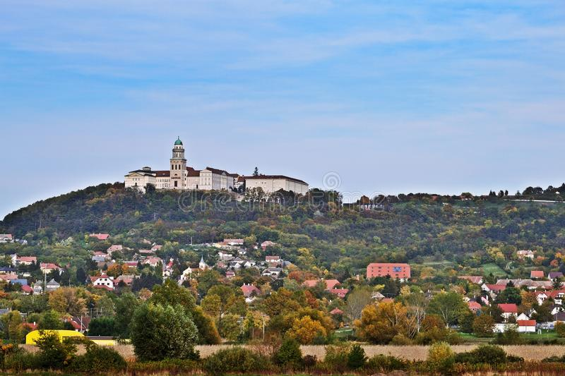 Pannonhalma Abbey. On an autumn day, Hungary royalty free stock image