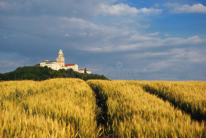 Pannonhalma Abbey, Hungary. The Benedictine Pannonhalma Archabbey or Territorial Abbey of Pannonhalma is the most notable landmark in Pannonhalma and one of the royalty free stock photo
