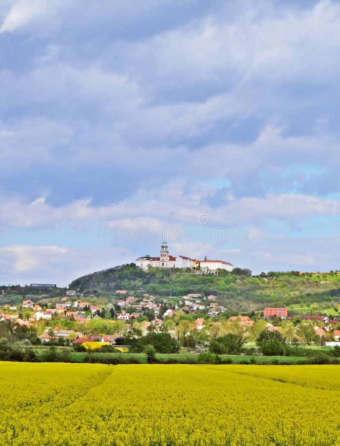 Pannonhalma Abbey. View of Pannonhalma Abbey in Hungary in the spring royalty free stock photography