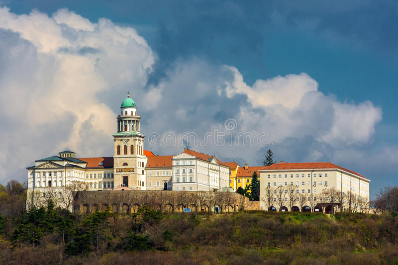 Pannonhalma Archabbey, Hungary. The building of Benedictine Pannonhalma Archabbey, Hungary royalty free stock image