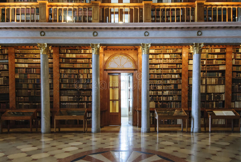 Pannonhalma hungary europe benedictine abbey. View of the library inside the abbey of pannonhalma royalty free stock photos