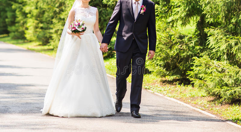 panny młodej dzień fornal ich ślub fotografia royalty free