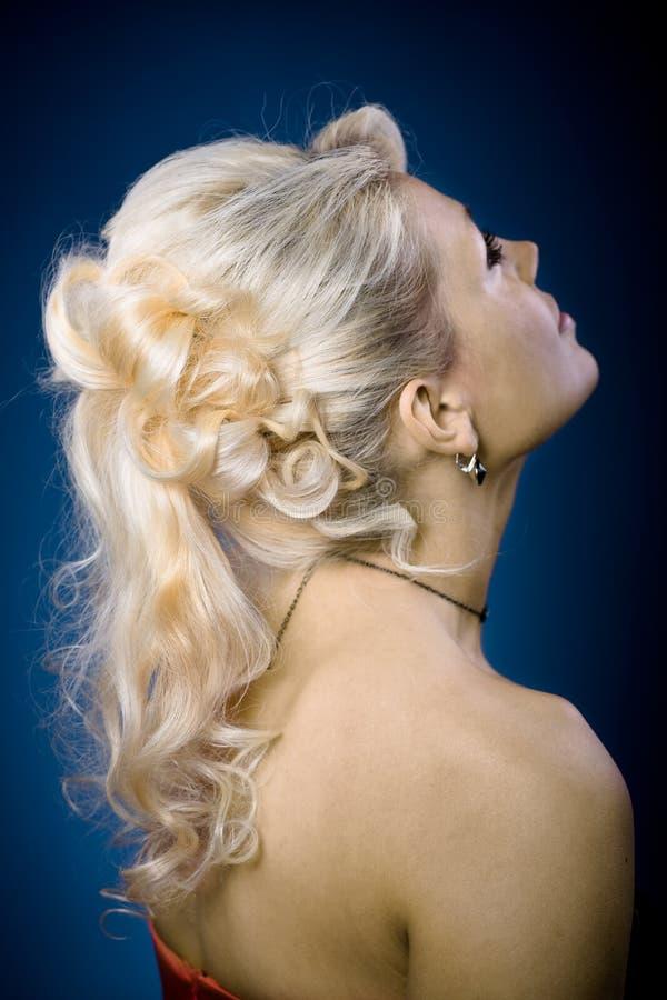 Panny młodej fryzura obrazy royalty free