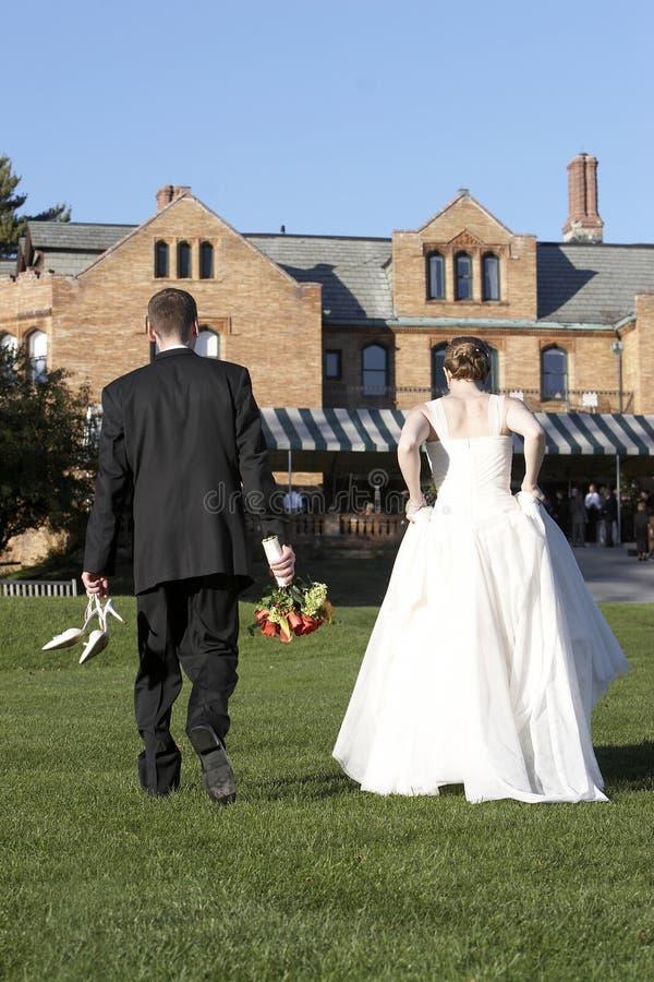 panny młodej pary na ślub pana młodego fotografia royalty free