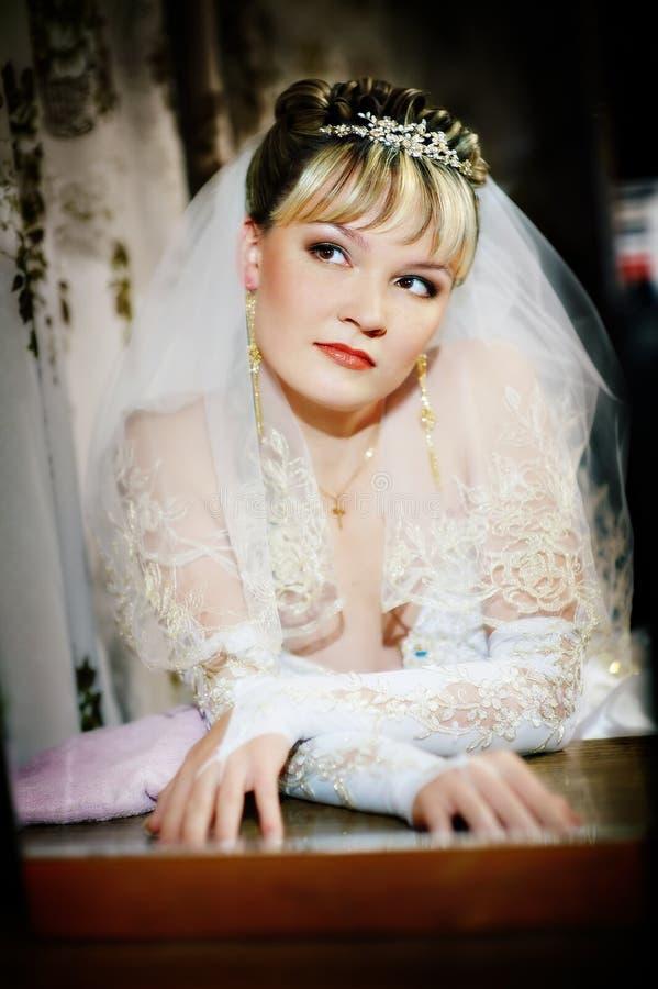 Download Panny młodej portreta ślub obraz stock. Obraz złożonej z biały - 13342461