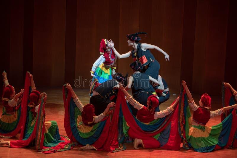 Panny młodej Yi ludowy taniec zdjęcie stock