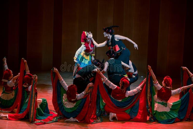Panny młodej Yi ludowy taniec obrazy royalty free