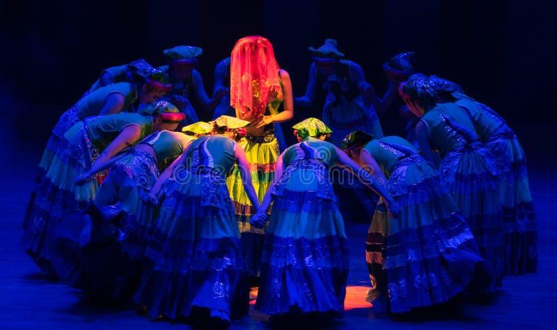 Panny młodej Yi ludowy taniec zdjęcia royalty free