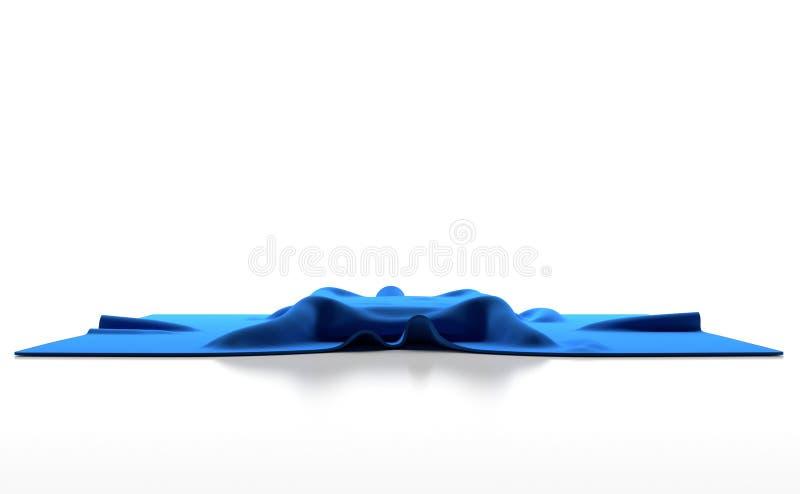 Pano azul com enrugamentos imagem de stock