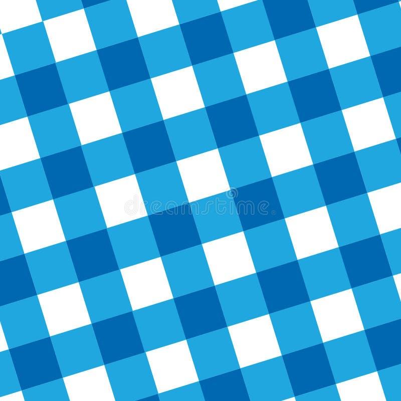 Pano azul do piquenique ilustração do vetor