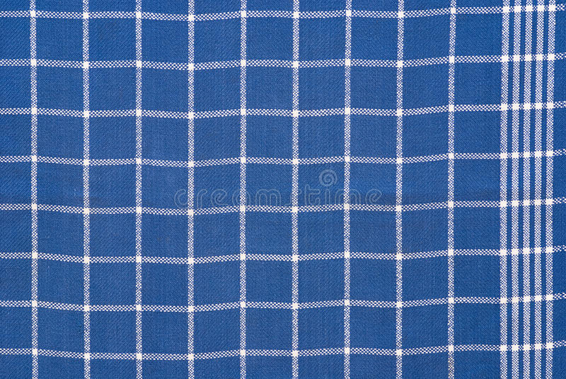 Pano checkered azul e branco imagem de stock