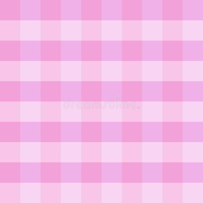 Pano checkered cor-de-rosa ilustração do vetor