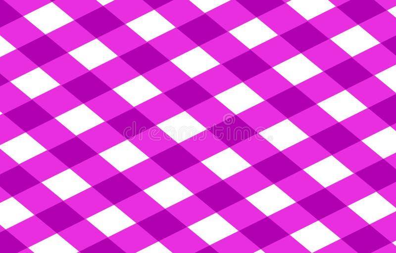Pano cor-de-rosa do piquenique ilustração royalty free