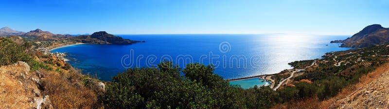 Pano de la costa costa de Crete imagen de archivo libre de regalías