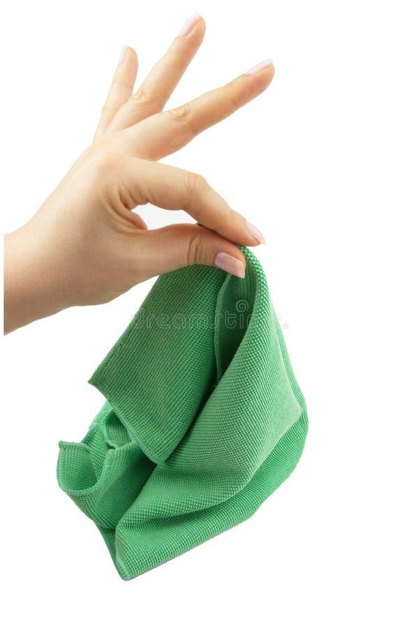 Download Pano de limpeza foto de stock. Imagem de fêmea, esfrege - 12812880