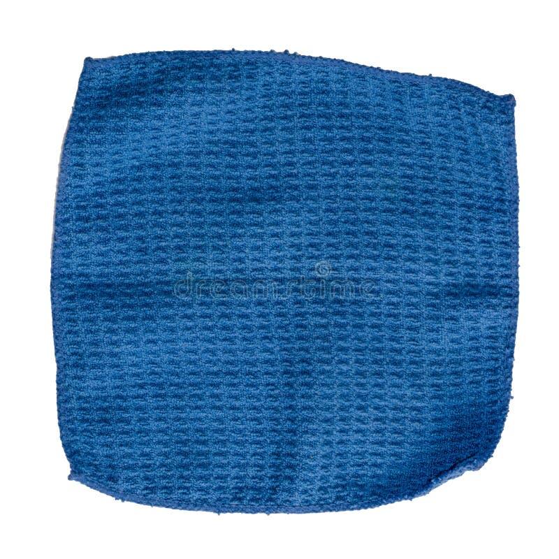 Pano de limpeza azul para o ecran digital no fundo branco fotografia de stock royalty free