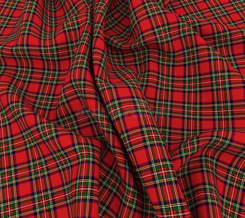 pano escocês brilhante da tela da manta de tartã 3d ilustração stock