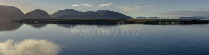Pano från den York hamnen, Newfoundland royaltyfri bild