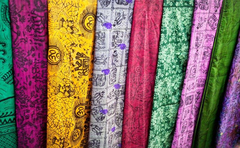 Pano indiano no mercado fotografia de stock royalty free