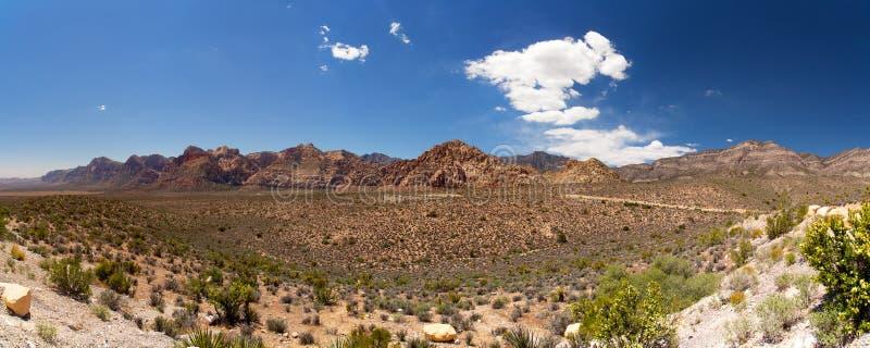 Pano rouge de canyon de roche images libres de droits