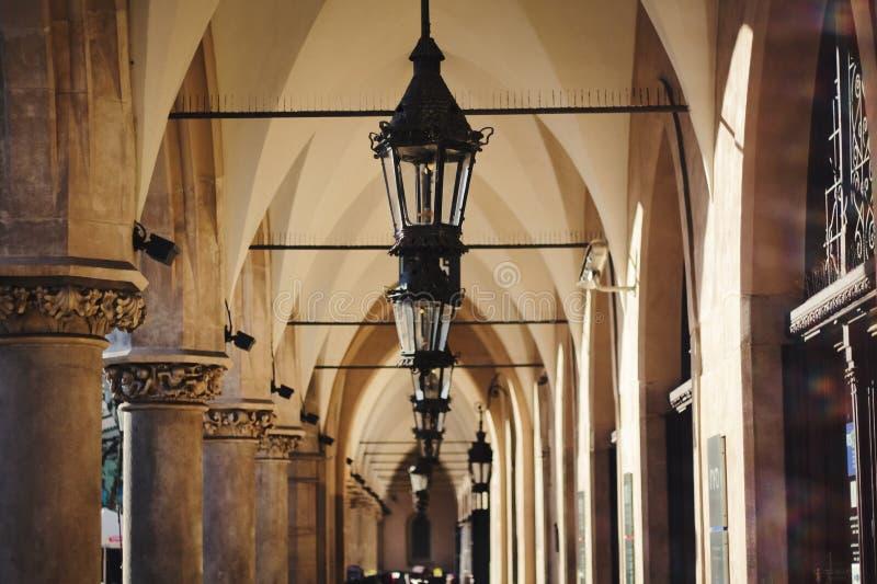 Pano Salão (Sukiennice) Krakow imagem de stock
