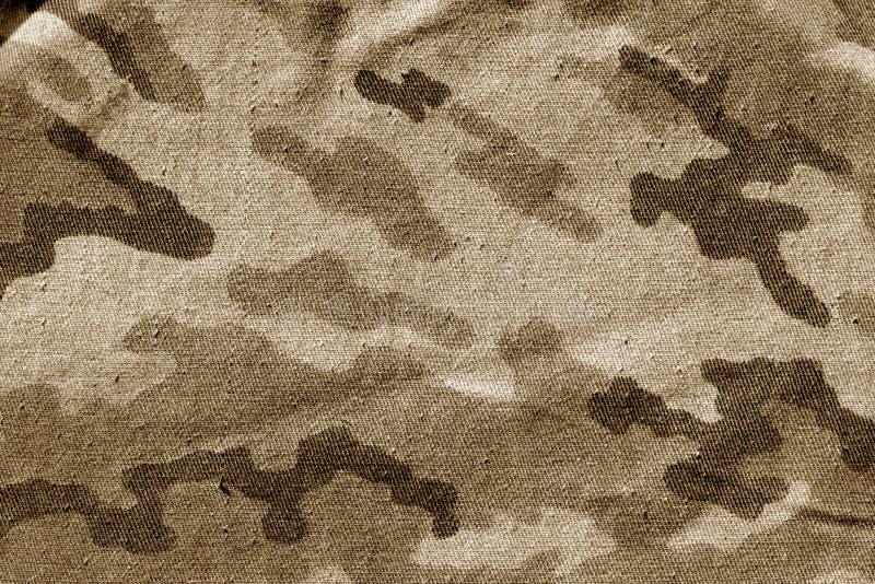Pano sujo da camuflagem no tom marrom fotografia de stock royalty free