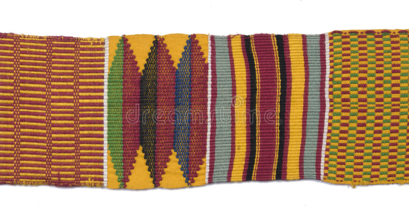 Pano tecido africano tradicional foto de stock