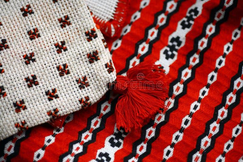 Pano tecido Romanian imagens de stock