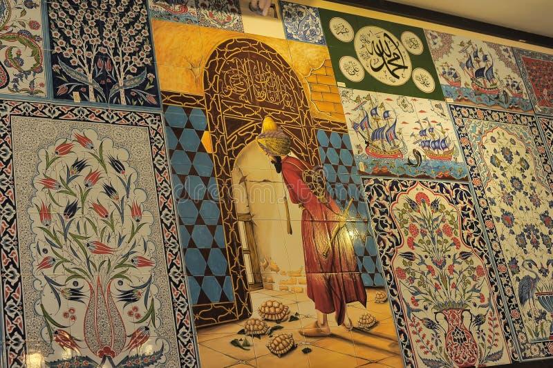 Pano Turkish tiles stock photos
