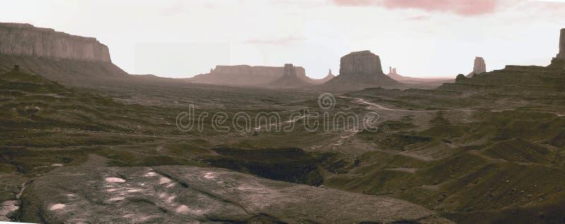Pano van de Vallei van het monument stock foto