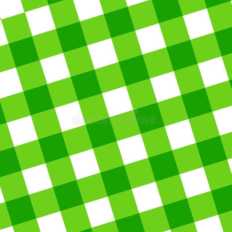 Pano verde do piquenique ilustração do vetor