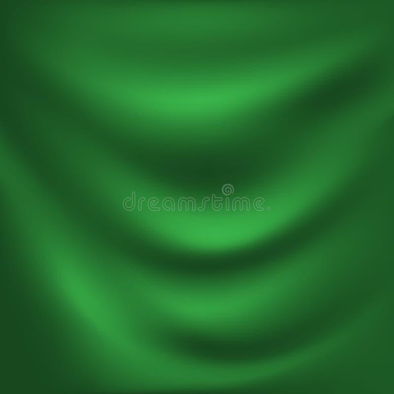 Pano verde luxuoso do fundo abstrato do vetor ou dobras l?quidas do onda ou as onduladas do material de seda de veludo do cetim d ilustração royalty free