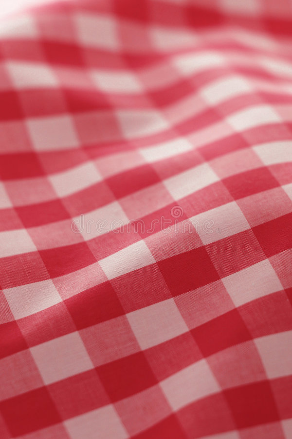 Pano vermelho detalhado do piquenique foto de stock royalty free