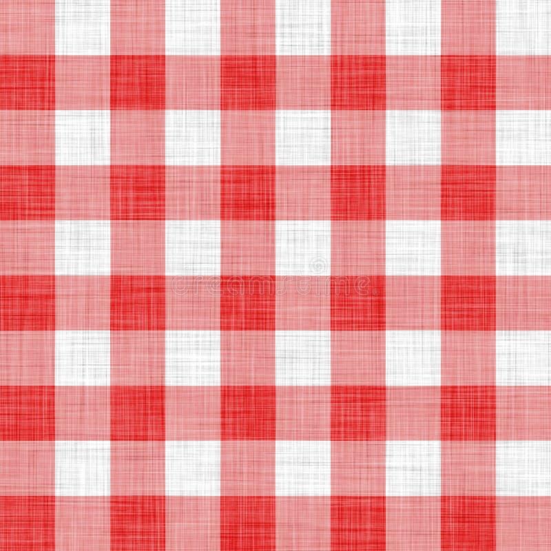 Pano vermelho do piquenique ilustração do vetor