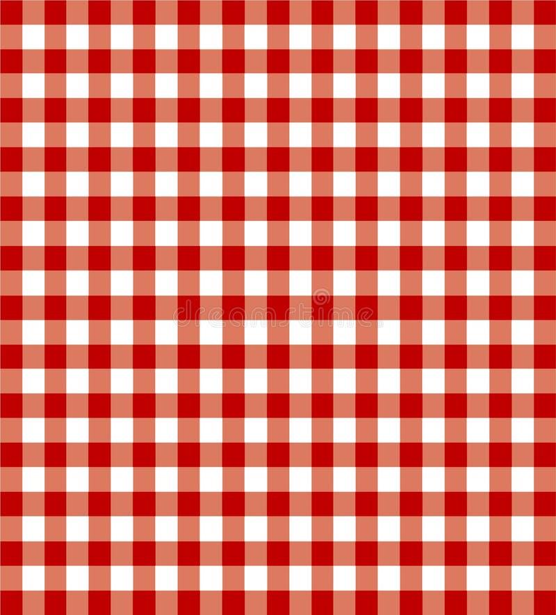 Pano vermelho do piquenique ilustração stock