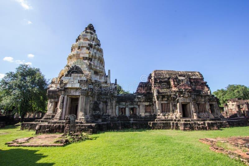 Panomwan-Schloss stein- Thailand stockbild