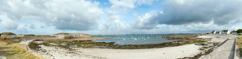 Panorámico de Bretaña costera fotos de archivo