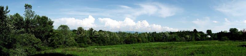 Panorámico del campo de Vermont fotos de archivo