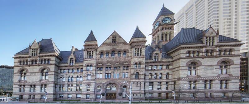 Panorámico del Palacio de Justicia, Toronto, ayuntamiento viejo imagenes de archivo