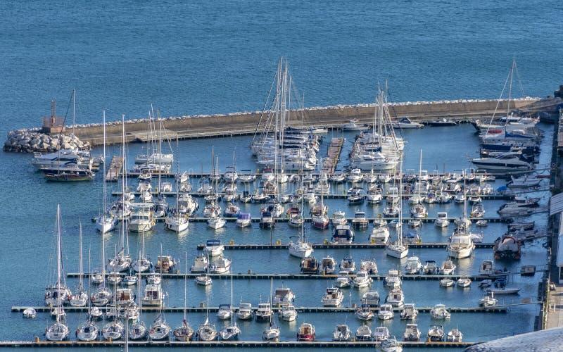 Panorâmica do turista marina, Itália imagem de stock