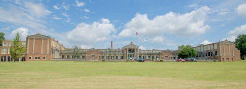 Panorâmico da High School do leste Memphis, Tennessee fotografia de stock royalty free