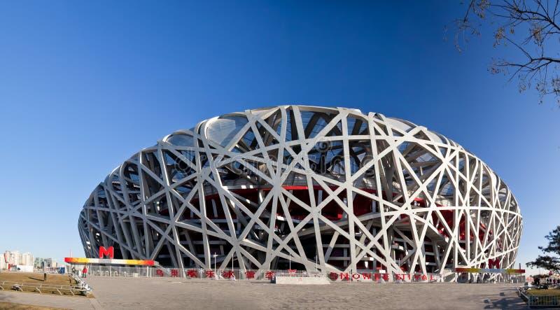 Panorâmico do estádio do nacional de Beijing fotos de stock royalty free