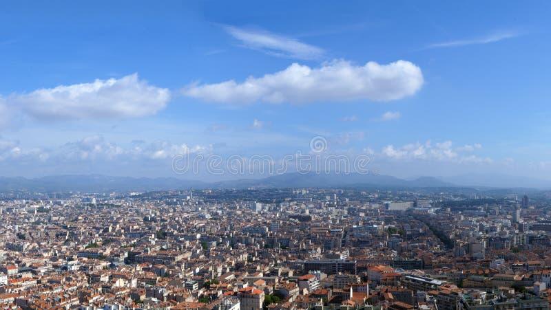 Panoram da cidade de Marselha imagens de stock royalty free
