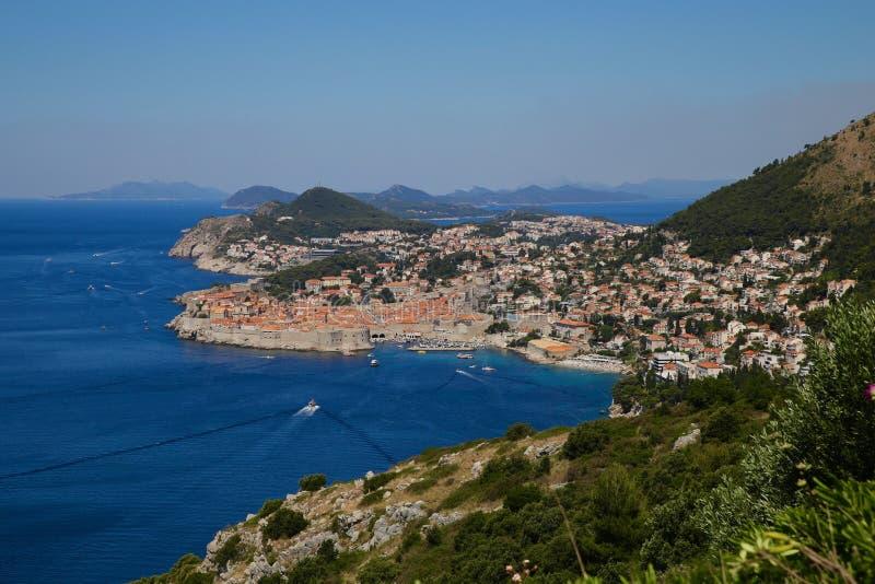 Panoram da Croácia de Dubrovnick imagem de stock royalty free