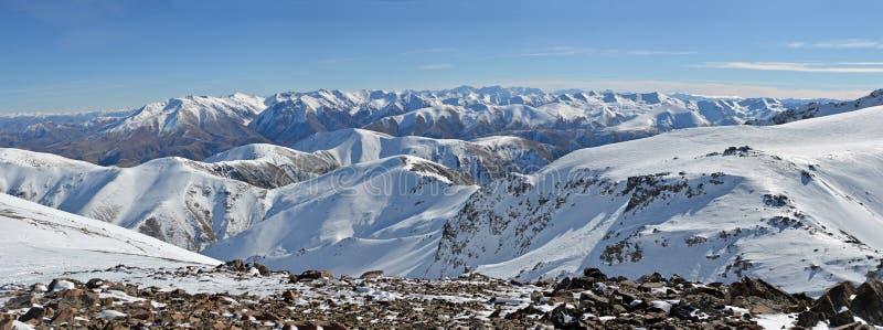 Panoram południe z wierzchu góry Hutt narty pola zdjęcia royalty free