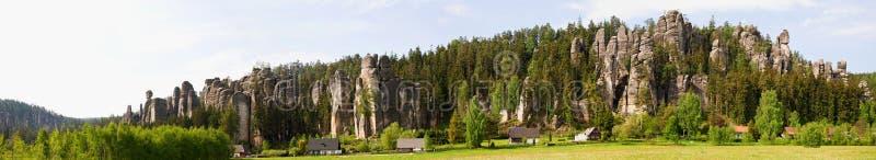 panoram skały zdjęcie royalty free