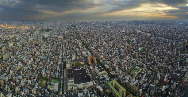 Panorama över Tokio arkivfoto