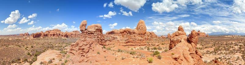 Panorama łuku park narodowy zdjęcia stock