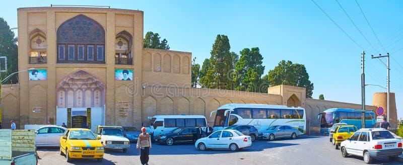 Panorama żebro ogródu ramparts, Kashan, Iran zdjęcia royalty free