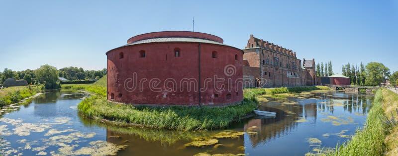 Panorama 01 de château de Malmohus photo stock